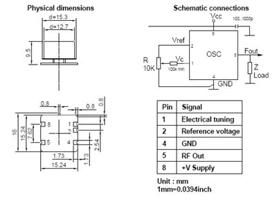 OCXO1615C-SMD - OCXO : Oven Controlled Crystal Oscillator