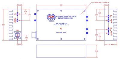 8.9 to 9.4GHz, Dual Channel Amplifier with Integrated Bi-Phase Modulators Image