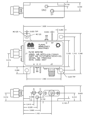 Integrated Filter / Detector Assembly for Airborne Applications Image