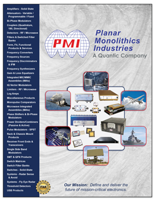 New 2021 Tri-Fold Brochure -<br> PMI Products & Services Overview